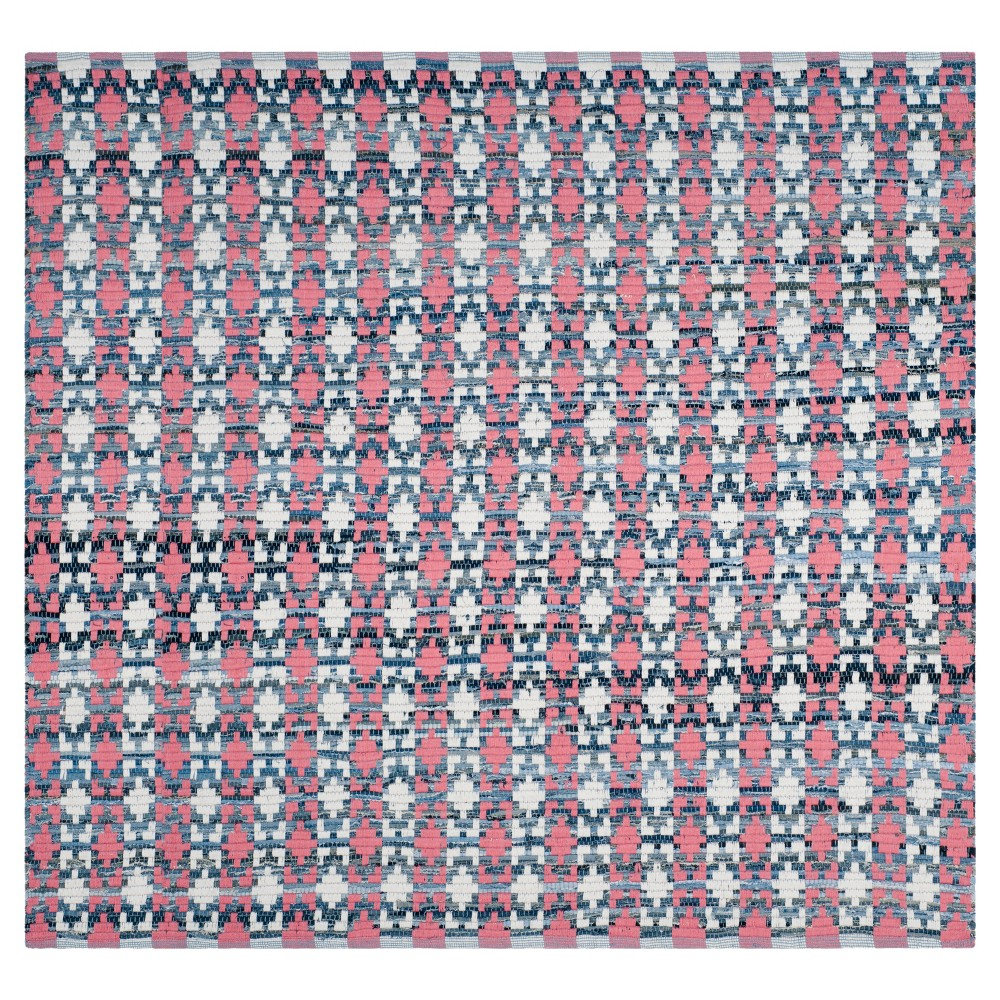 Shapes Flatweave Woven Square Accent Rug 4 X4 Safavieh