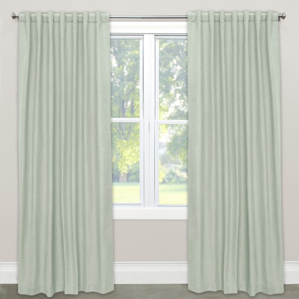 Linen Unlined Curtain Panel (50x108) - Skyline Furniture, Lt Aqua