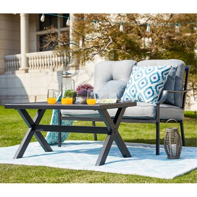3pc Iron Frame Loveseat Patio Set - Patio Festival