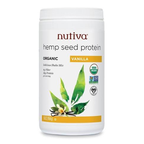 Nutiva Organic Vegan Hemp Protein Powder - Vanilla - 16oz - image 1 of 3