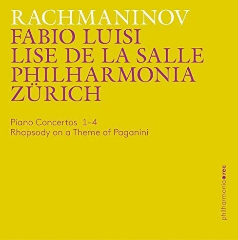 Philharmonia zurich - Rachmaninov:Piano ctos 1-4/Rhapsody o (CD) - image 1 of 1