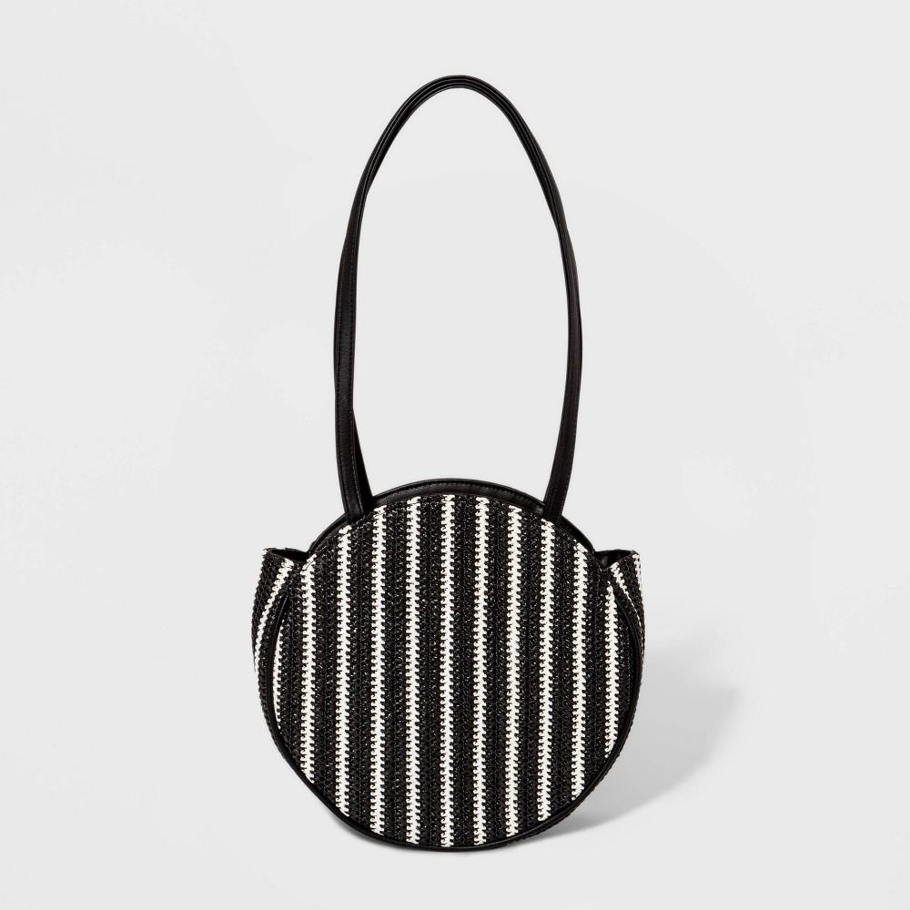 Straw Tote Handbag - Wild Fable Black, Girl's