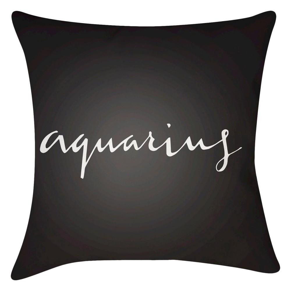 Charcoal Aquarius Throw Pillow 16