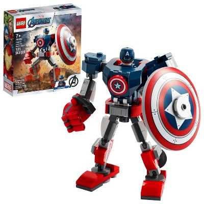 LEGO Marvel Avengers Classic Captain America Mech Armor 76168