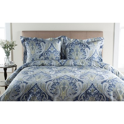 Blue Crystal Palace 100% Cotton Duvet Set Full/Queen 3pc - Elite Home Products