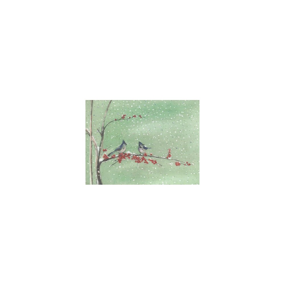 Birds & Berries Deluxe Holiday Cards - (Stationery) Birds & Berries Deluxe Holiday Cards - (Stationery)