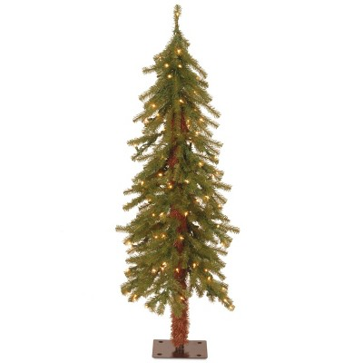 National Tree Company Slim 4ft Pre Lit Hickory Cedar Artificial Tree With 100 Clear Lights by National Tree Company
