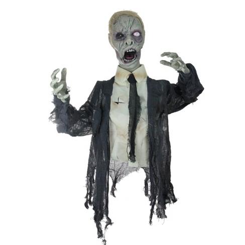 "Northlight 17"" Prelit Animated Groundbreaking Zombie Halloween Yard Decoration - Black/White - image 1 of 2"