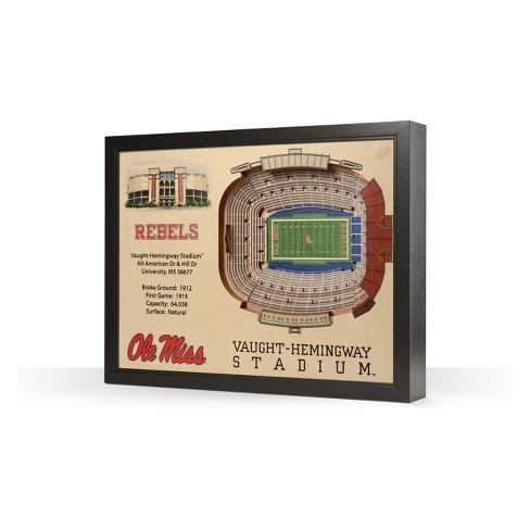 NCAA Ole Miss Rebels 25 Layer Stadiumviews 3D Wall Art - image 1 of 4