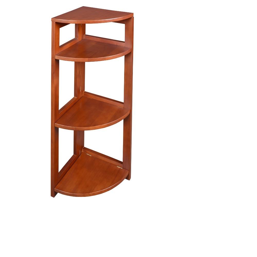 "Image of ""Flip Flop 34"""" High Corner Folding Bookcase Cherry - Niche, Red"""