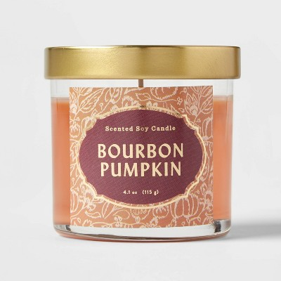 Lidded Glass Jar Bourbon Pumpkin Candle - Opalhouse™