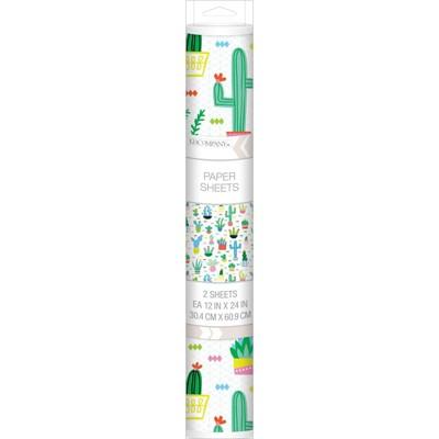 K&Company 12'' x 24'' 2pk Cactus Paper Sheet