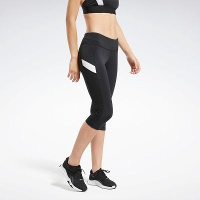 Reebok Workout Ready Mesh Capri Tights Womens Athletic Pants