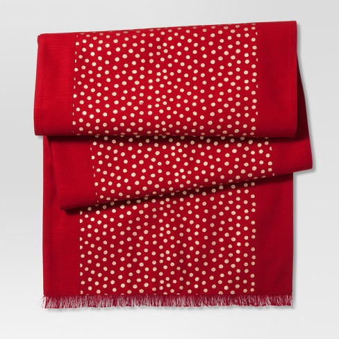 Ruby Ring Polka Dots Table Runner - Threshold™ - image 1 of 1