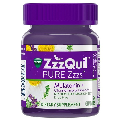 Vicks PURE Zzzs Melatonin Sleep Aid Gummies - Wildberry Vanilla - image 1 of 6
