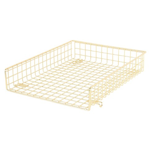 Grid Wire Letter Tray Gold - Threshold™ - image 1 of 4