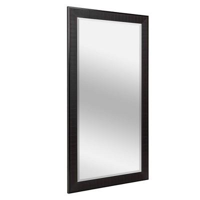 "29.5"" x 53.5"" Rustic Frame Mirror Brown - Head West"