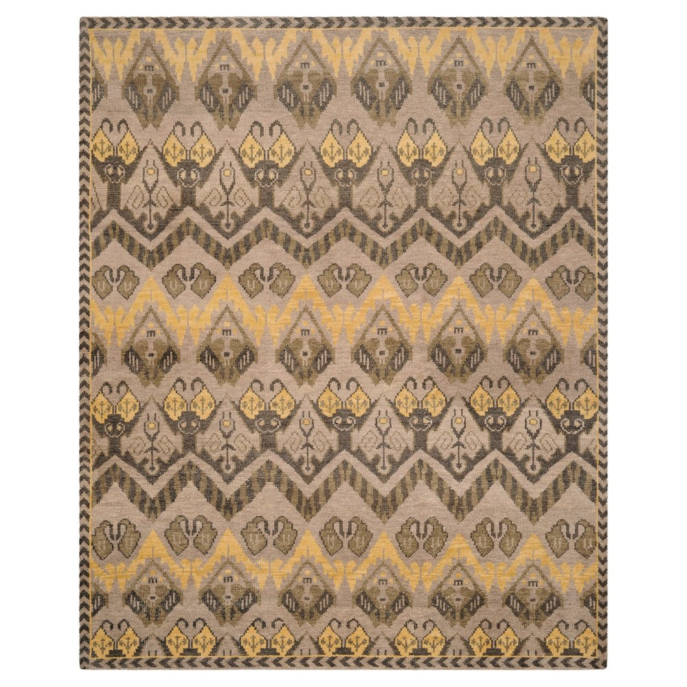 Gold/Beige Abstract Tufted Area Rug - (8'X10') - Safavieh