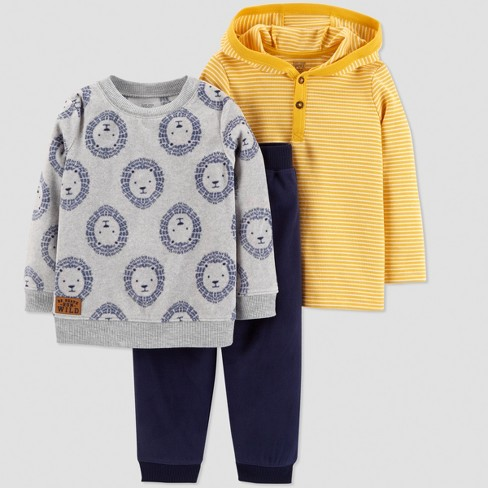 Toddler Boys' 3pc Lion Set - Just One You® made by carter's Yellow - image 1 of 1