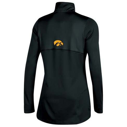 99a61ce21 Iowa Hawkeyes Women s Stadium Elite Long Sleeve 1 2 Zip Poly Top with Thumb  Holes