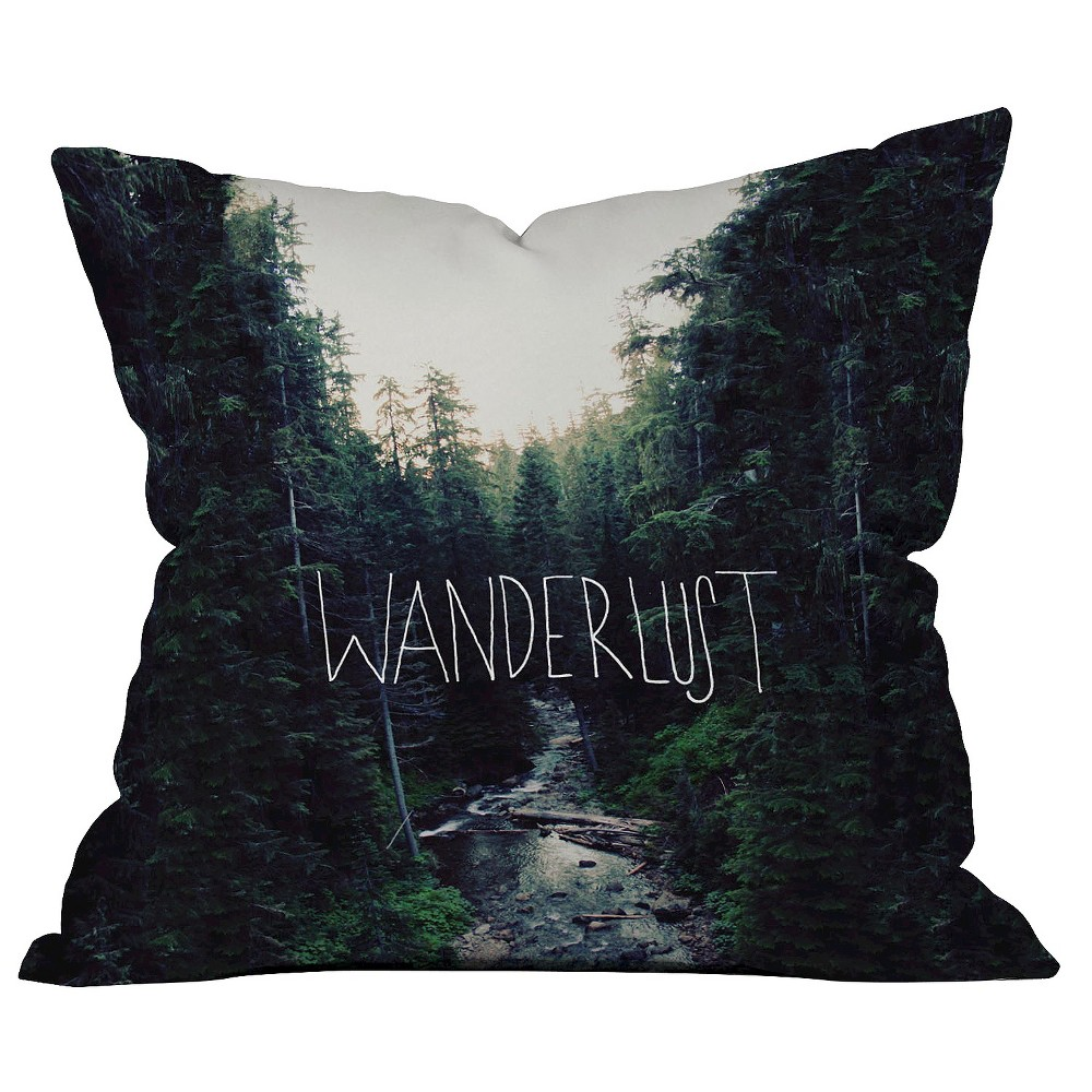 Wanderlust 1 Throw Pillow - Deny Designs, Multi-Colored