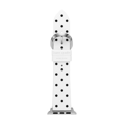 Kate Spade New York Apple Watch 38/40mm Silicone Band - White and Black Polka Dot