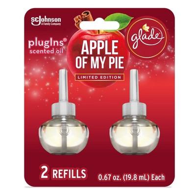 Glade PlugIns Scented Oil Air Freshener Refills Apple Of My Pie - 2ct/1.34oz