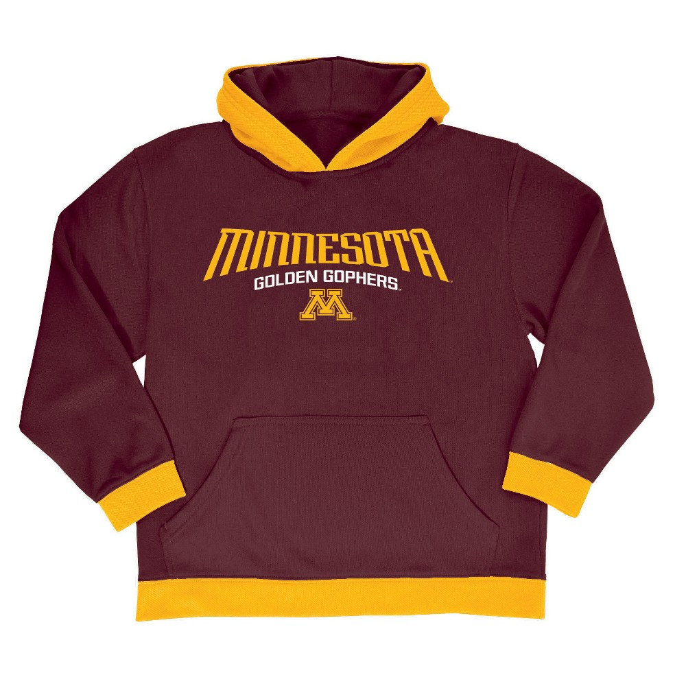NCAA Boys' All Star Pullover Poly Hoodie Sweatshirt Minnesota Golden Gophers - XS, Multicolored