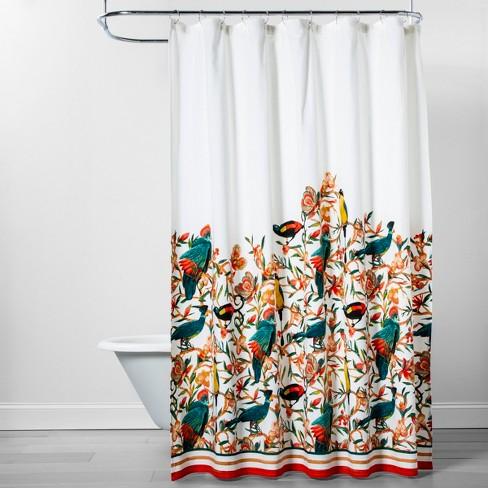 Flora Bird Shower Curtain