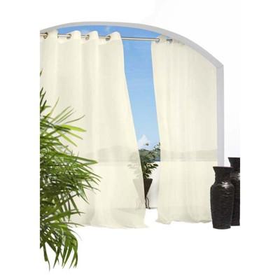 Outdoor Decor Escape Indoor/Outdoor Voile Grommet Top Window Panel