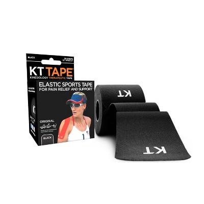 KT Tape Elastic Sports Tape 20ct - Black