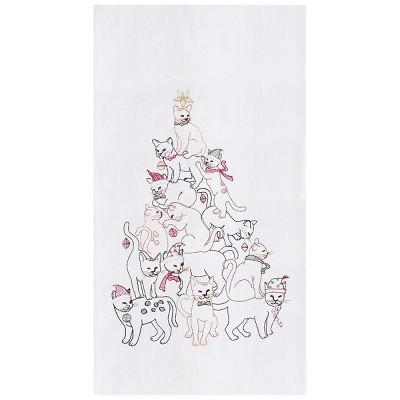 C&F Home Cat Christmas Tree Flour Sack Kitchen Towel