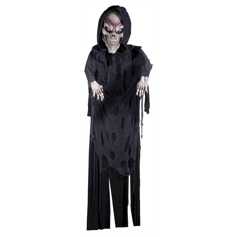 Image of 12 ft. Halloween Reaper Hanging Decor, Black