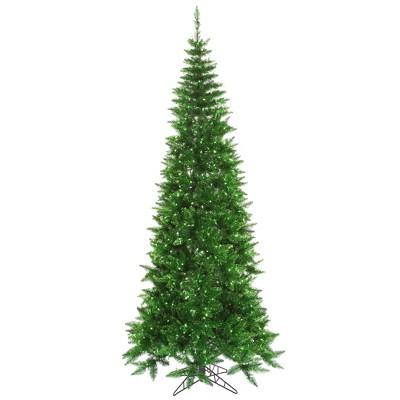 Vickerman 5.5' Tinsel Green Artificial Christmas Tree, Green Incandescent Lights