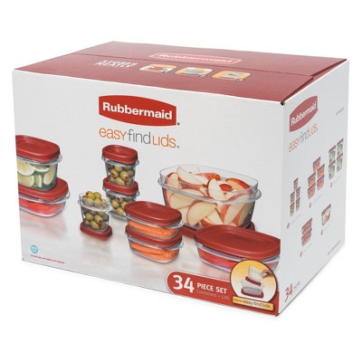 Rubbermaid 34pc Easy Find Lids Food Storage Container Set