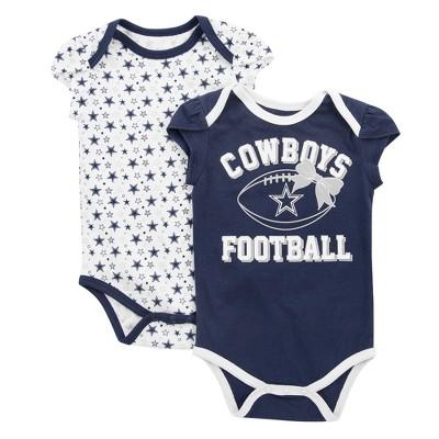 Dallas Cowboys Girls' 2pk Bodysuit Set - Chrisleen 3 M
