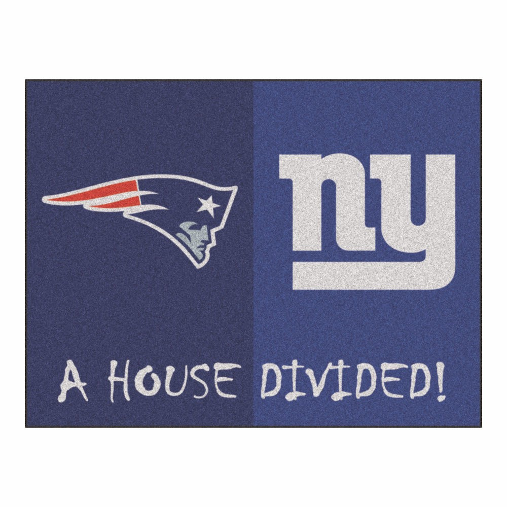 NFL New England Patriots/New York Giants House Divided Rug 33.75