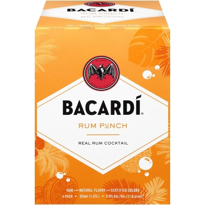 Bacardi Rum Punch Cocktail - 4pk/355ml Cans