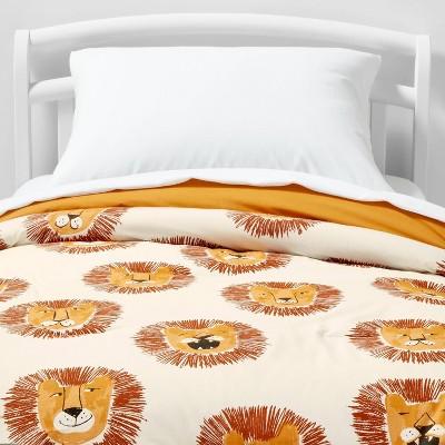Lions Cotton Comforter Set Yellow - Pillowfort™
