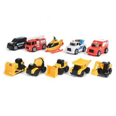Maxx Action 10 Pack Mini Vehicles w/ Play Mat