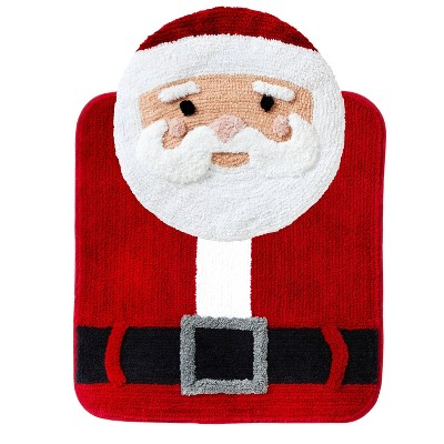 Chubby Santa Toilet Topper and Rug Set - SKL Home