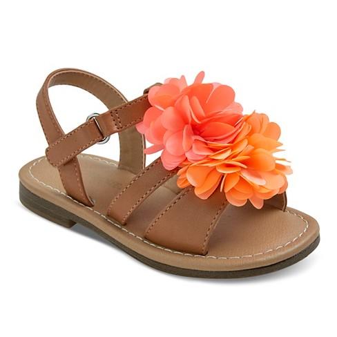 Toddler Girls' Jera Slide Sandals Tan 9 - Cherokee® - image 1 of 3