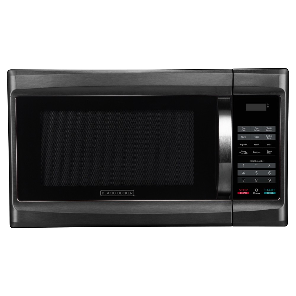 Black+decker 1.3 cu ft 1000W Microwave Oven Black Stainless Steel 52277796