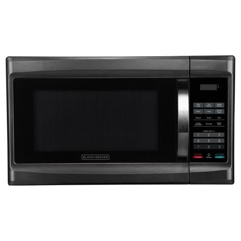 BLACK+DECKER 1.3 cu ft 1000 Watt Microwave Oven Black Stainless Steel - image 1 of 4