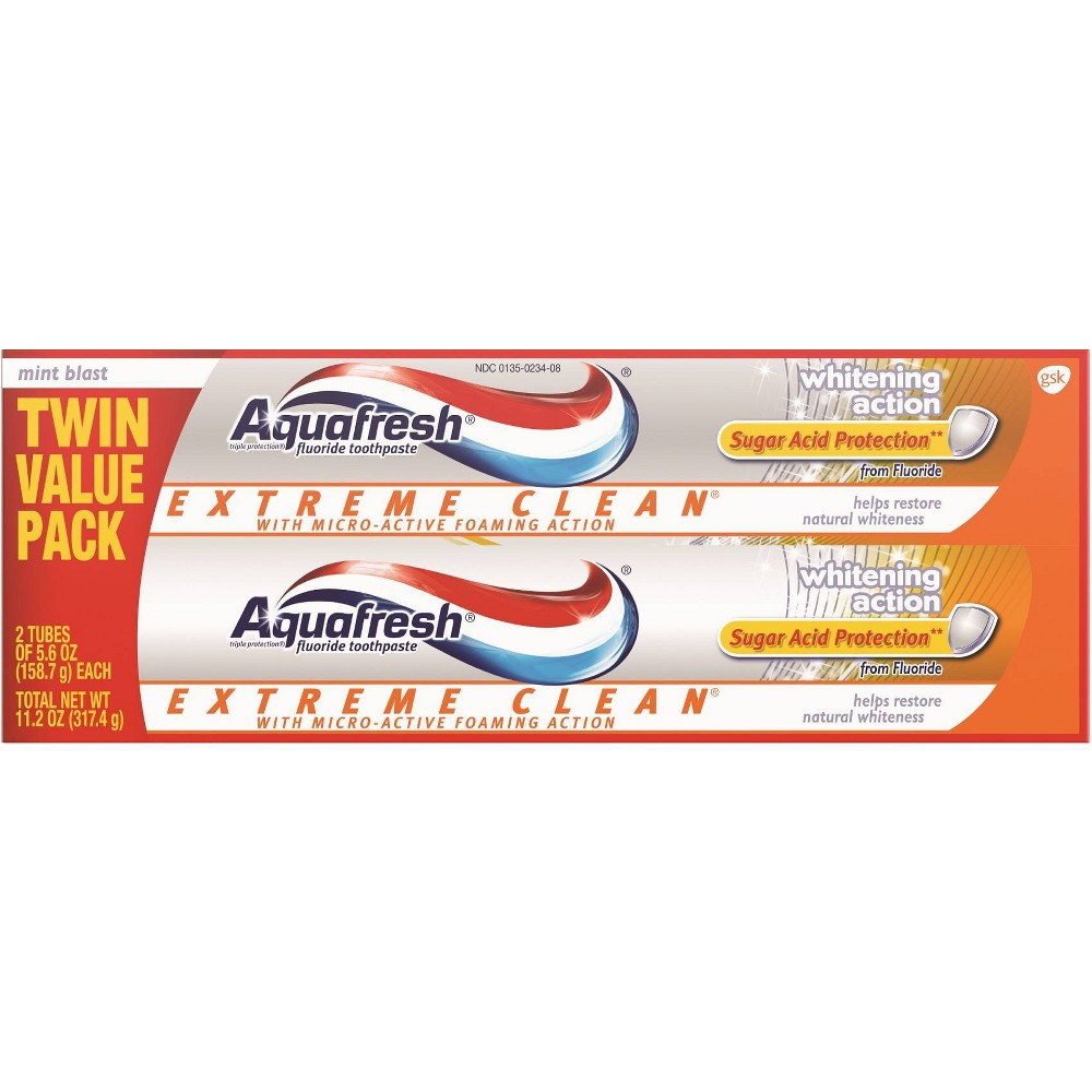 Image of Aquafresh Extreme Clean Whitening Action Toothpaste - 2ct/5.6oz