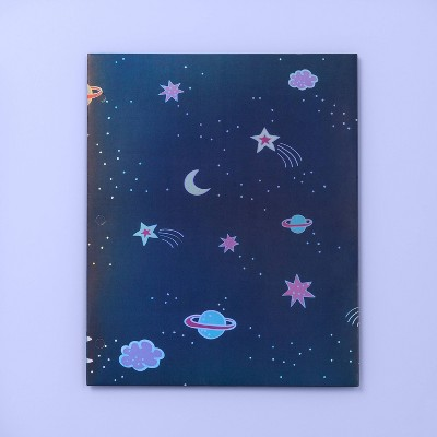 Space 2 Pocket Paper Folder   More Than Magic   Navy Blue by More Than Magic