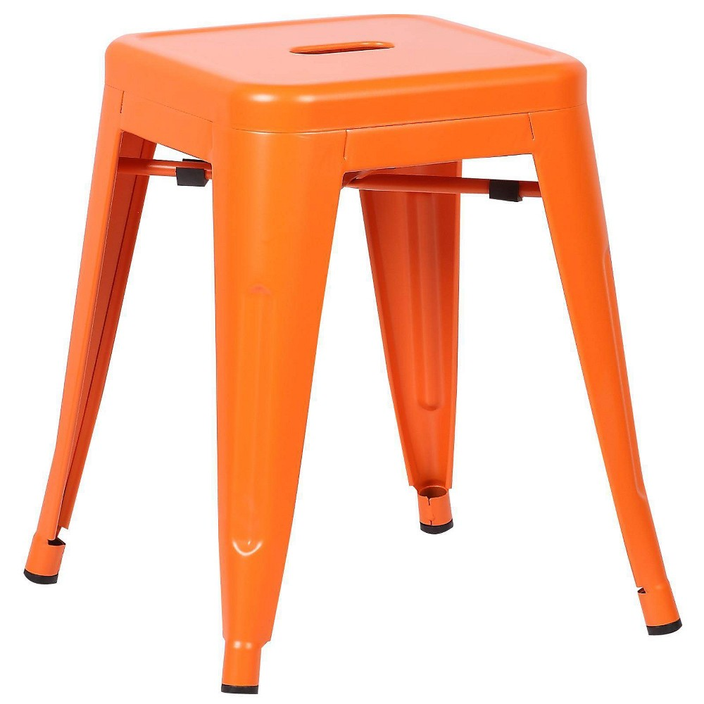 "Image of ""18"""" Franco Industrial Stool Orange - Poly & Bark"""