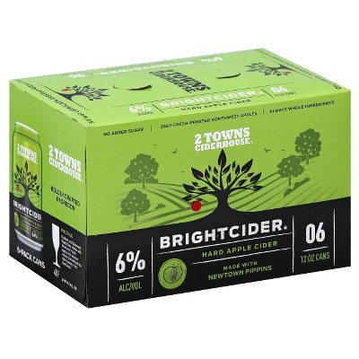 2 Towns Bright Cider - 6pk/12 fl oz Cans