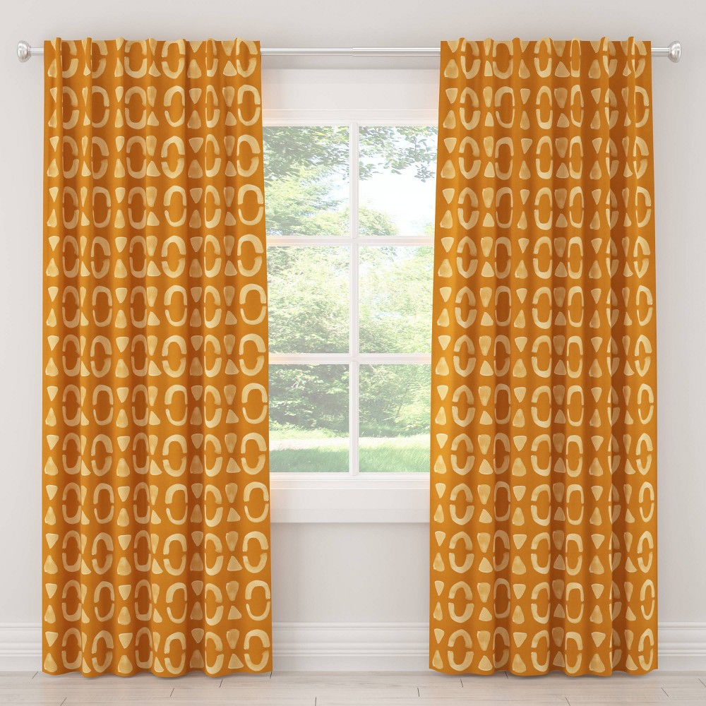 "Image of ""108"""" In Nora Block Blackout Curtain Orche - Cloth & Co., Size: 108"""""""