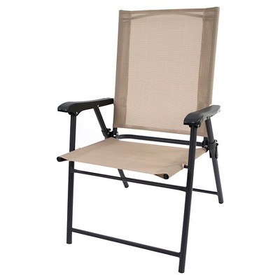 Sling Folding Patio Chair - Tan - Threshold™
